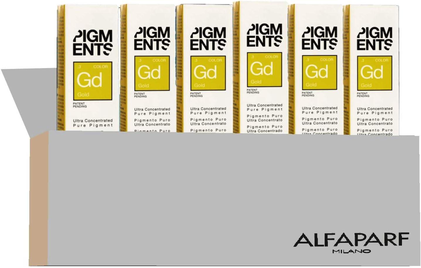 ALFAPARF Alfaparf Pigments Gold 6X8Ml 350 g: Amazon.es: Belleza