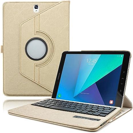 Boriyuan SM-P580 P585 10.1 - Funda para teclado inalámbrico con Bluetooth para Samsung Galaxy Tab A S Pen SM-P580 P585 de 10,1 pulgadas, incluye protector de pantalla y lápiz capacitivo: Amazon.es: Electrónica