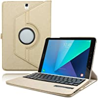 Boriyuan Tab a S Pen Sm-P580 P585 10.1 Keyboard Case, Wireless Bluetooth Cover Case for Samsung Galaxy Inch Skin P580N P585N with Screen Protector + Touch Stylus - Gold