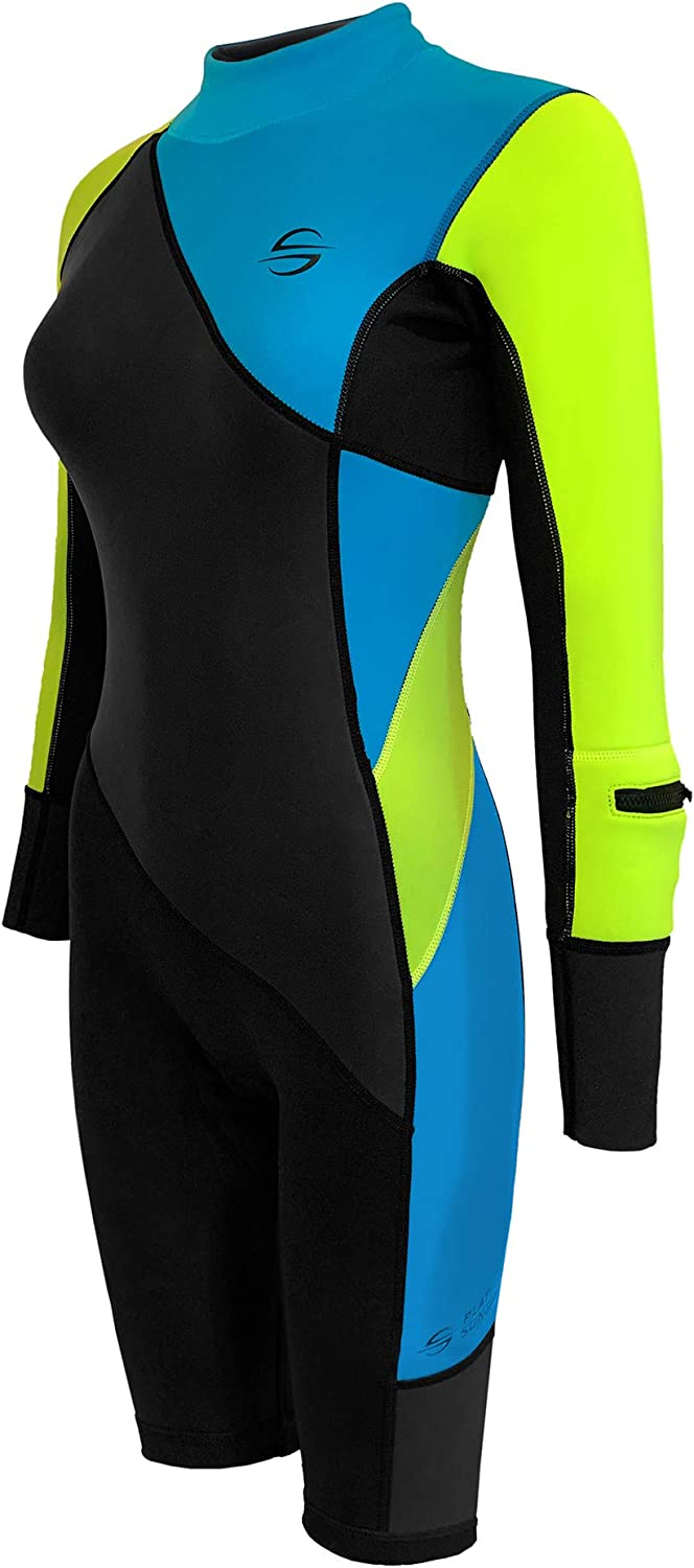 Women's Neoprene Shorty Wetsuit Suits Water Cheap mail order shopping Swimsuit Long-Sleeve specialty shop