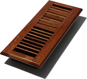 Decor Grates WLC412-N 4-Inch by 12-Inch Wood Floor Register, Natural Brazilian Cherry
