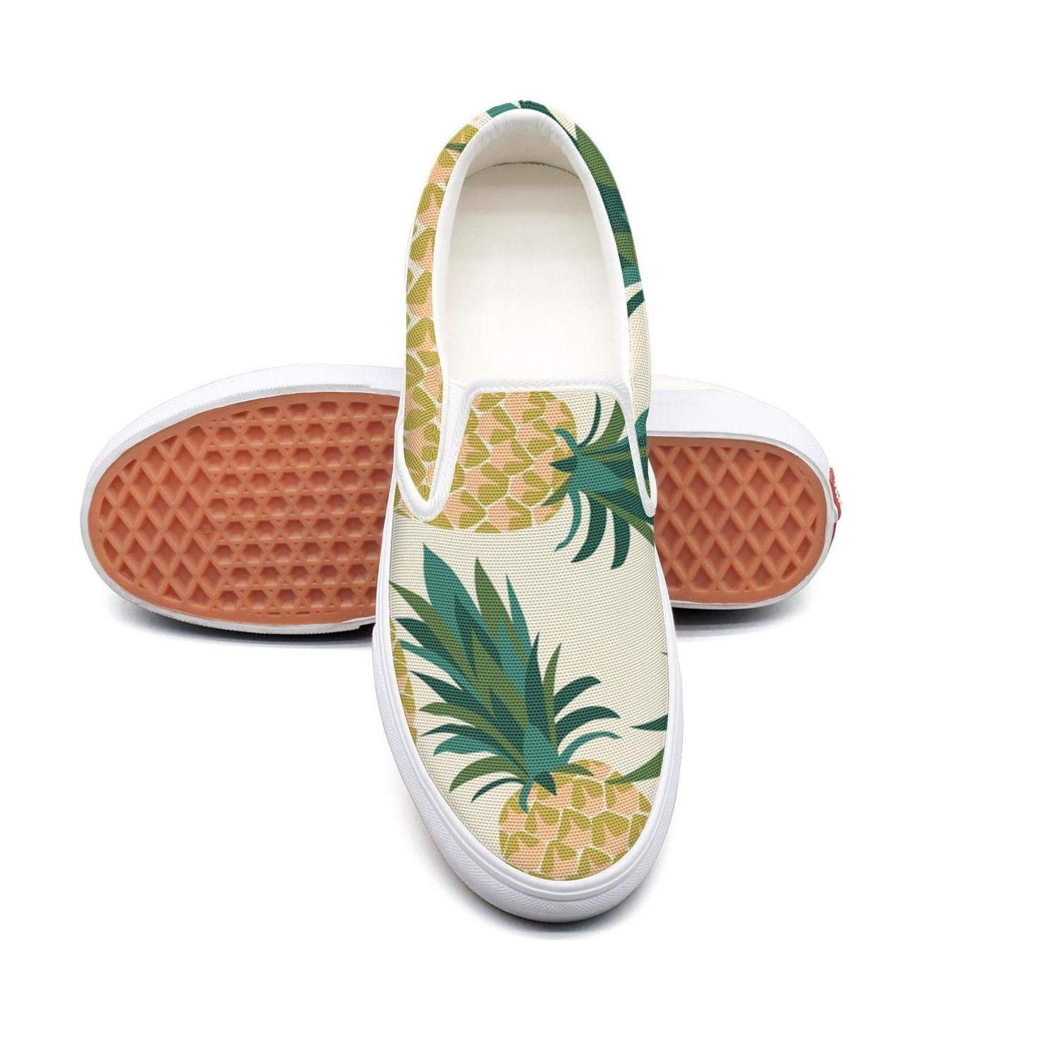 Vosda Mens Tropical Pineapple Fruit Sneaker Shoes for Mens Cool Trail Running Shoes