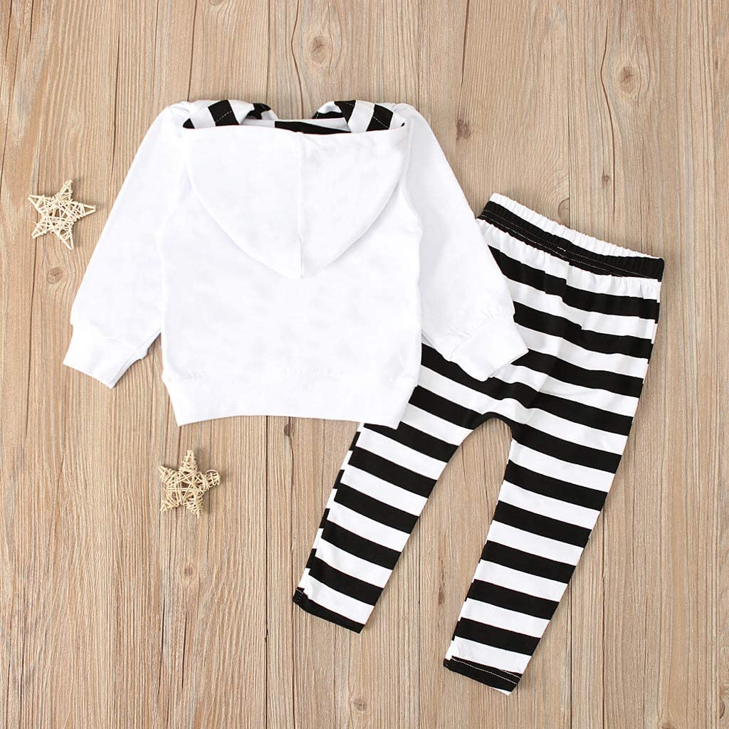 Stripes Pants Kehen Toddler Halloween Clothes Infant Baby Girl Boy Winter Outfit 2pc Devil Hoodie Pullover
