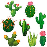 40 Pieces Cactus Cutouts Prickly Cactus Party Cutouts Green Cactus Paper-cuts for Fiesta Party Classroom Bulletin Board…