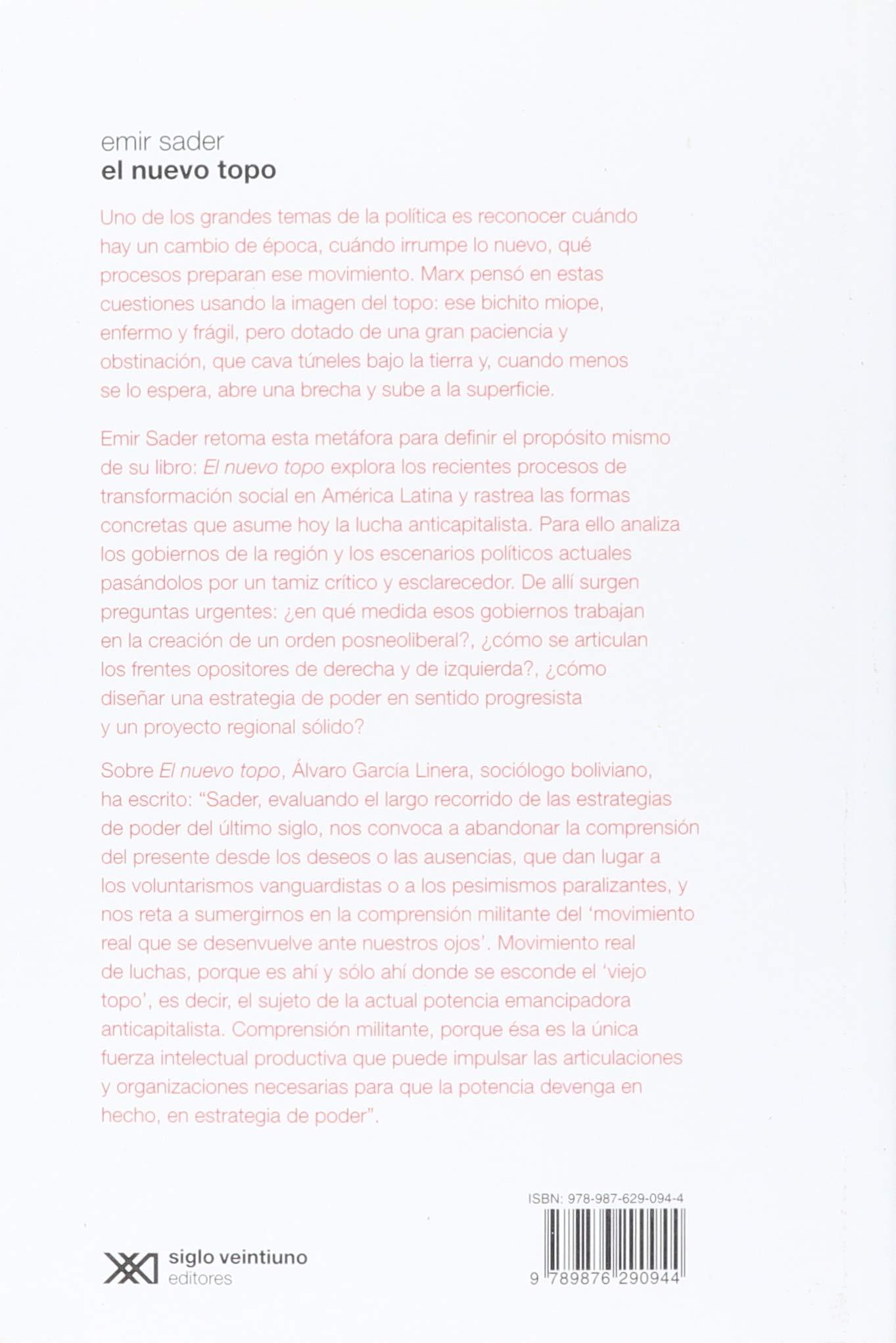 Nuevo topo. Los caminos de la izquierda latinoamericana (Spanish Edition): Emir Sader: 9789876290944: Amazon.com: Books