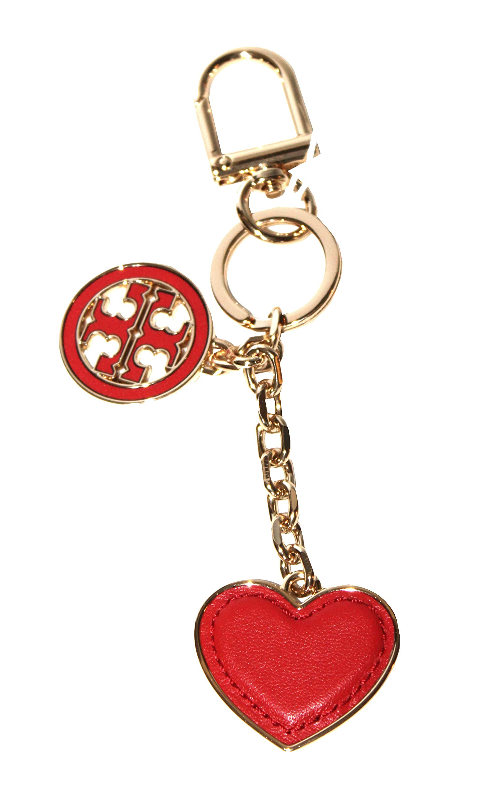 Tory Burch Logo Heart Key Fob Keychain