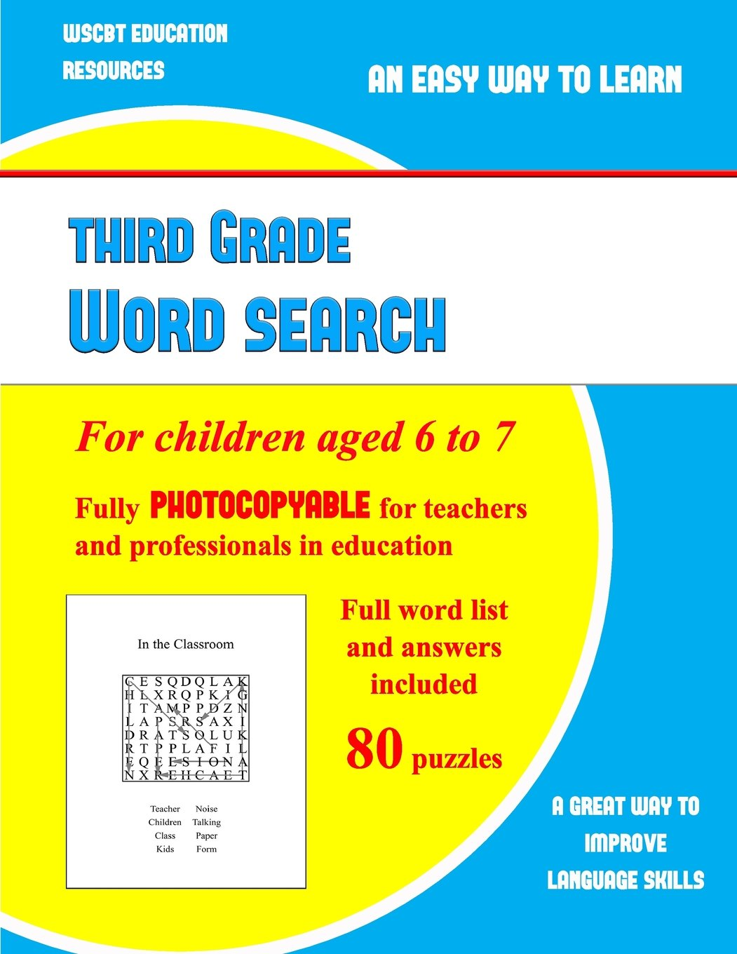 Buy Third Grade Word Search: A Large Print Children's Word