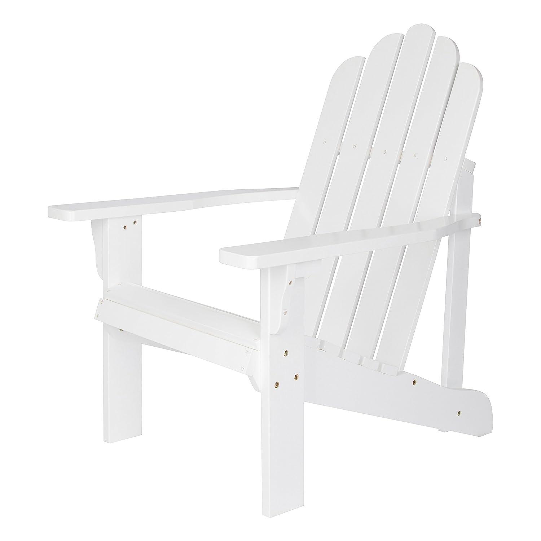 Shine Company Marina Adirondack Chair, White 4618WT