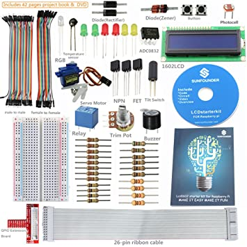 SunFounder Raspberry Pi Getting Started LCD Starter Kit w/ GPIO Extension on