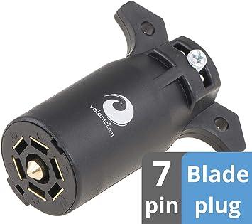 Amazon Com Valonic 7 Way Trailer Plug 7 Pin Trailer Wiring Harness Connector For Rv Trailer Bike Trailer Blade Connector Automotive