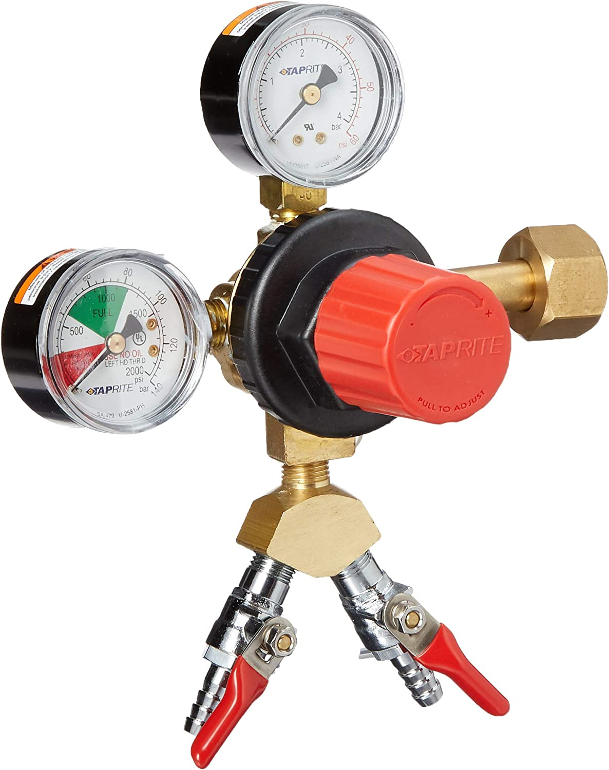 Taprite CGR263 2 Product High Volume Primary CO2 Regulator-Polycarbonate Body, Brass