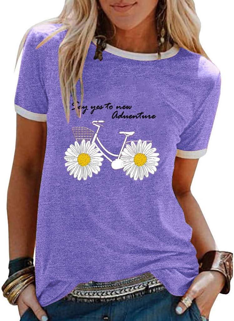 YANG  최고 여성 T 셔츠 짧은 폴로 셔츠 캐주얼 튜닉 탑 네 말을 인쇄하는 블라우스 패션 숙녀 T-셔츠