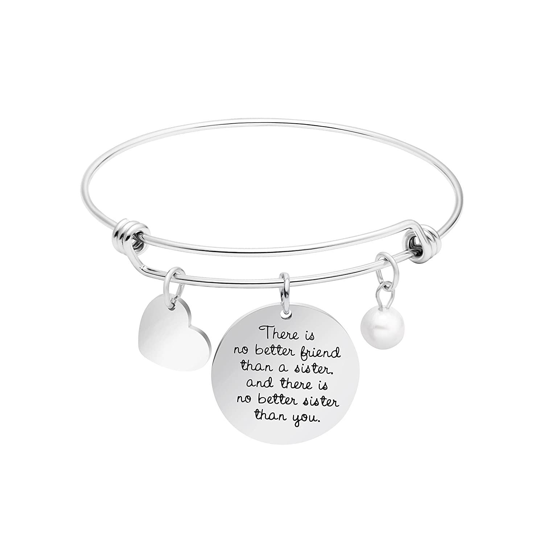 Expandable Bracelet Adjustable Wire Bangle Jewelry Inspiraitonal Gifts for Women Charm Pendant Yiyang YB-0651-H