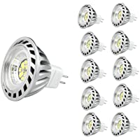 CYLED 6W Mr16 Led Lamps, 50W Halogen Lamp Equivalent, 500Lm, Warm White, 3000K, 60 Beam Angle, Led Spot Light Bulbs,Pack of 10 Units