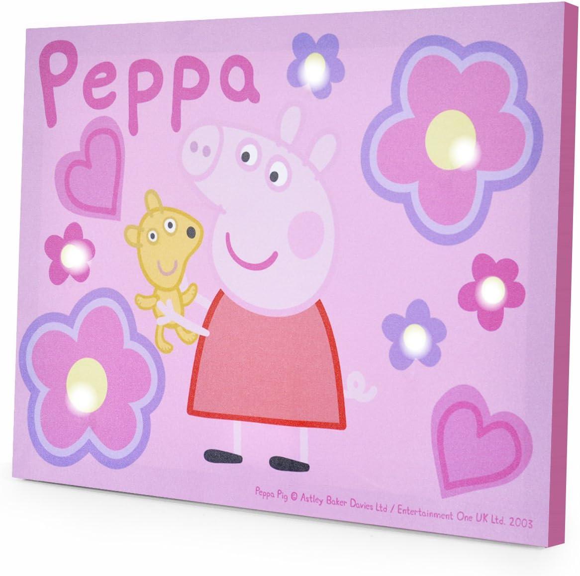 "Peppa Pig LED Canvas Wall Art, 11.5 x 15.75"""