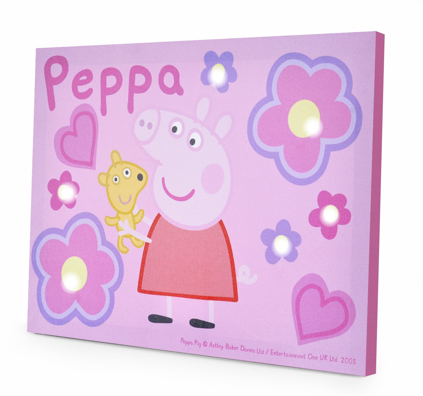 Amazon peppa pig led canvas wall art 115 x 1575 toys games amipublicfo Images