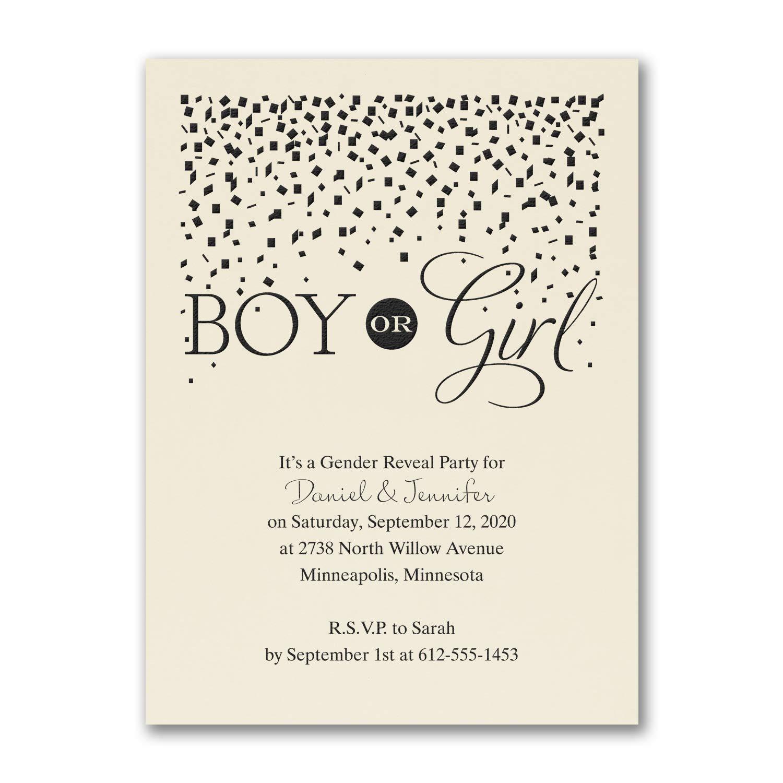 1200pk Boy or Girl - Baby Shower Invitation - Ecru-Baby Shower Invitations