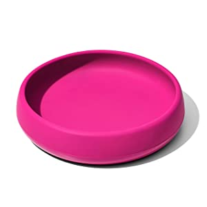 OXO Tot Silicone Plate Pink