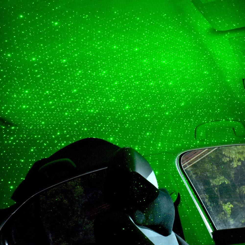 Wukalaka 4 en 1 USB Toit de Voiture Atmosph/ère /Étoile Ciel Lampe Voiture Lumi/ères Int/érieures LED Mis /à Niveau Romantique Galaxie Flexible Int/érieur Toit de Voiture Pleine /Étoile Lumi/ères Projection
