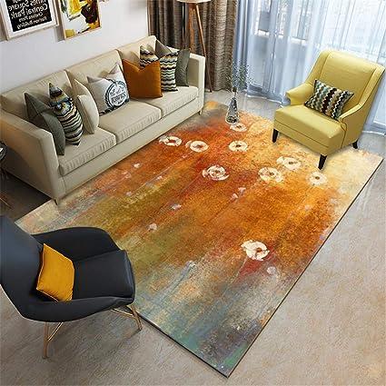 BJHSX-DD Tapis Salon Moderne Motif imprimé 3D Carpet Lavable ...