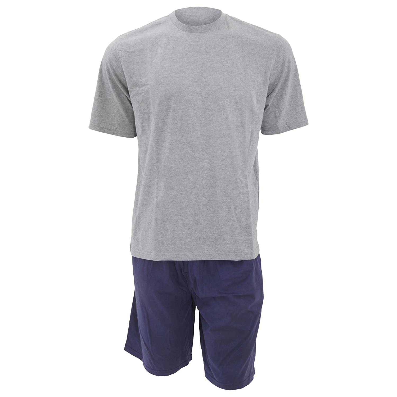 Cargo Bay - Conjunto pijama de manga corta hombre caballero (Mediana (M)/Marino/Gris): Amazon.es: Ropa y accesorios