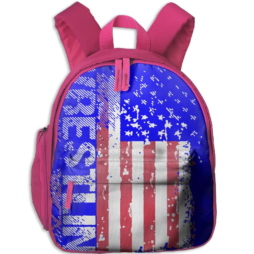 Wrestling American Flag Lightweight Cute Durable Cute Toddler Backpack Best For Toddler