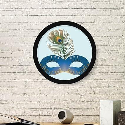 DIYthinker Pluma Azul Máscara de Carnaval Feliz de la Pintura de Arte de Venecia Foto del