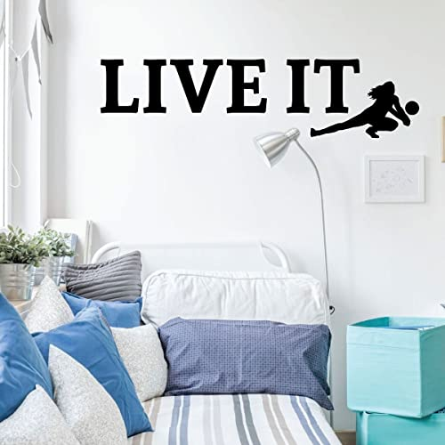 Outstanding Amazon Com Volleyball Wall Decal Live It Vinyl Decor Download Free Architecture Designs Barepgrimeyleaguecom