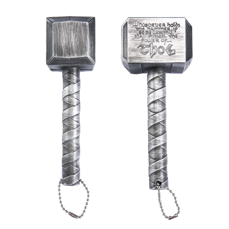 Apribottiglie di birra creativa martello Womdee di Thor a forma di apribottiglie con chiave a spirale e portachiavi per bar Hotel Home 6.5 x 1,9 pollici
