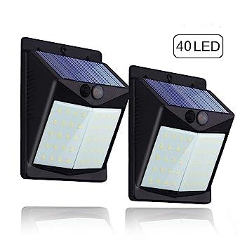 Lot De 2 40 Led Lampe Solaire Exterieure Hovast Eclairage Exterieur