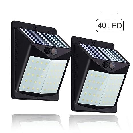 Luz Solar con Sensor de Movimiento,Súper Brillante Hovast [2 Paquetes] 40 LED