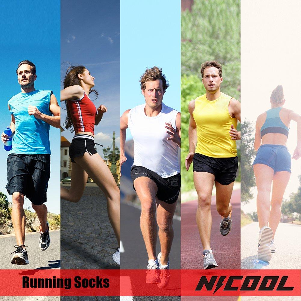 NIcool Women's Antiskid Wicking Soft Cushion Roll Top Outdoor Sports Hiking Trekking Running Short Quarter Socks 6 Pairs by NIcool (Image #3)