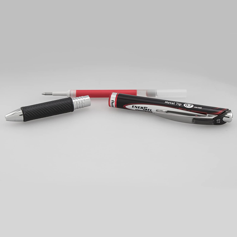 Blue Ink Pentel EnerGel PRO Permanent Gel Pen, Box of 12 Pens Medium Line 0.7mm BLP77-C