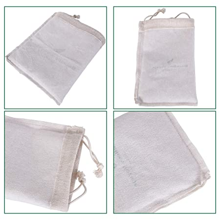 dbee8f39d992 Amazon.com: iBasingo 5 Pieces Linen Drawstring Bag Storage Pouch ...