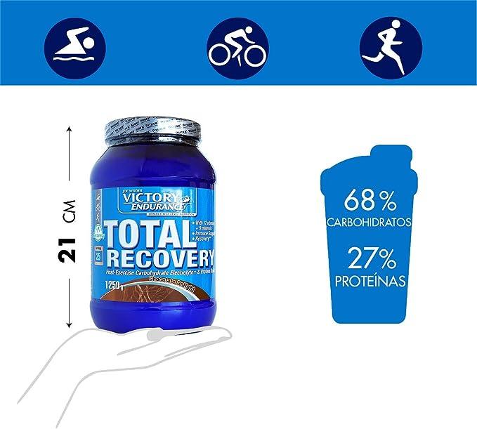 Victory Endurance Total Recovery. Maximiza la recuperación después del entrenamiento. Enriquecido con electrolitos y vitaminas. Sabor Chocolate (1250 ...