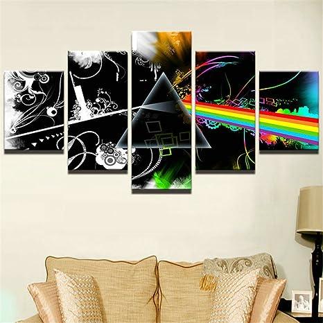 5 Pezzo stampato Pink Floyd musica rock su tela pittura per ...