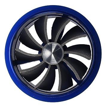 SODIAL(R) Ventilador de ahorro de combustible de admision Ventilador Turbo - Azul: Amazon.es: Coche y moto
