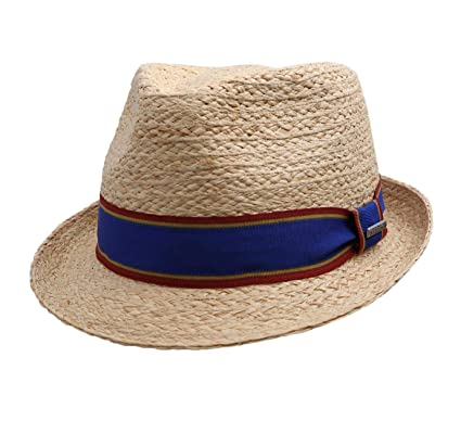18a6c84815e8f Stetson Salango Trilby Raffia Straw Hat Women Men