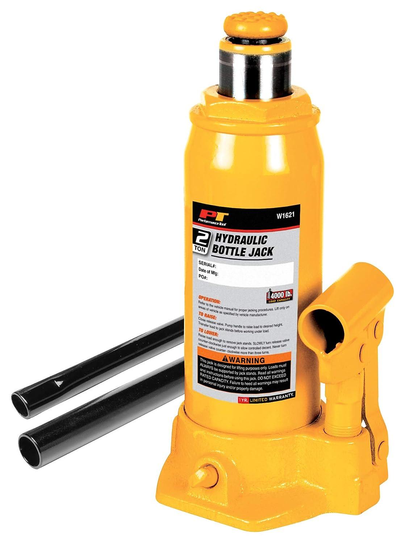 "B0002KO0WM Performance Tool W1621 2-Ton (4,000 lbs.) Heavy Duty Hydraulic Bottle Jack | Lift Range: 7-1/8"" to 13-1/2"" 713pk263AjL"