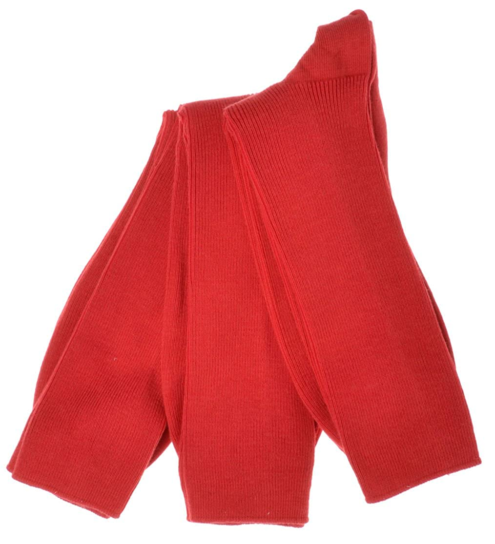 WB Socks 3 paia di calze da uomo rosse taglia 41.5-43.5 W Brewin