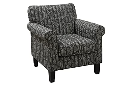 Terrific Amazon Com Poundex Bob Kona Sonata Roll Arm Accent Chair Interior Design Ideas Gentotryabchikinfo