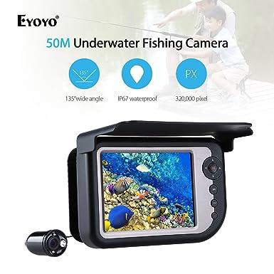 Eyoyo 5 pulgadas 50M IR Cámara de pesca submarina Grabadora de DVR Buscador de peces Visión
