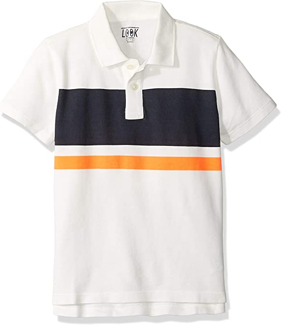 Marca Amazon / J. Crew - LOOK by crewcuts Polo de manga corta para ...
