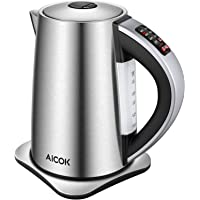 AICOK Electric Cordless Stainless Steel Water Kettle with 1500W SpeedBoil