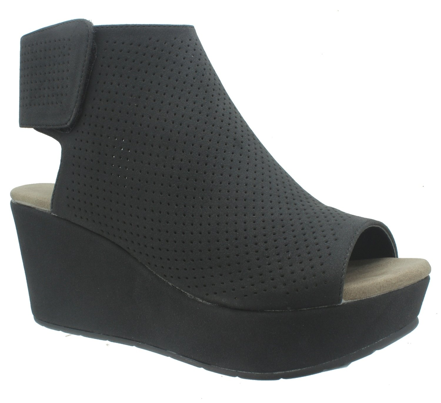 Pierre Dumas Women's Natural-2 Backless Slip-On Chunky Stacked Heel Fashion Mule Bootie,Black,8.5