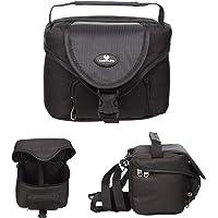 Case4Life Noir Sac Etui Rembourré Caméra Bridge pour Nikon Coolpix B500, B700, L310, L330, L340, L810 - Garantie à Vie