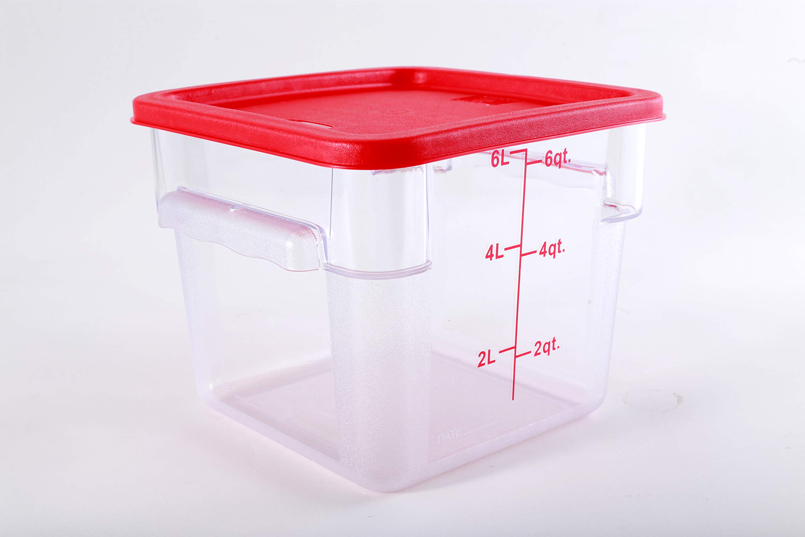 Hakka 6 Qt Commercial Grade Square Food Storage Containers with Lids,Polycarbonate,Clear - Case of 5 by HAKKA FOOD PROCESSING (Image #3)