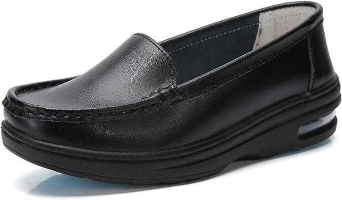 TRULAND Women's Leather Nurse Shoes