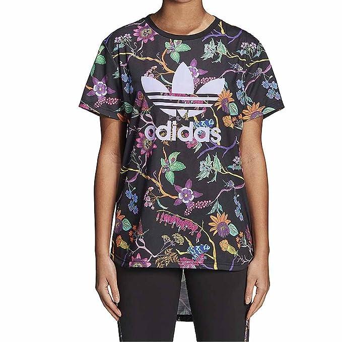 76d3d7614 adidas Camiseta Longline Negro Morado Multi Talla  30 XS (X-Small ...