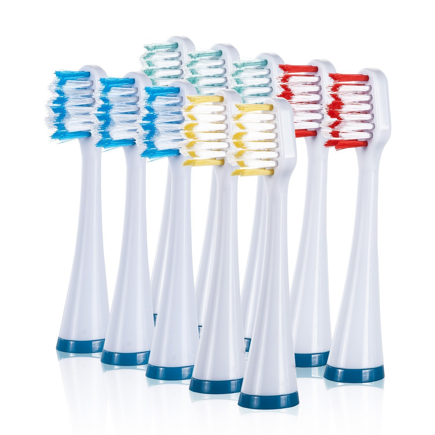 Wellness WE2PRO Replacement Heads for WE6200 Sonic Electric Toothbrush (10 Pack) Wellness Oral Care